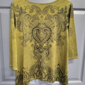 Tops - Never worn short sleeve size small olive green
